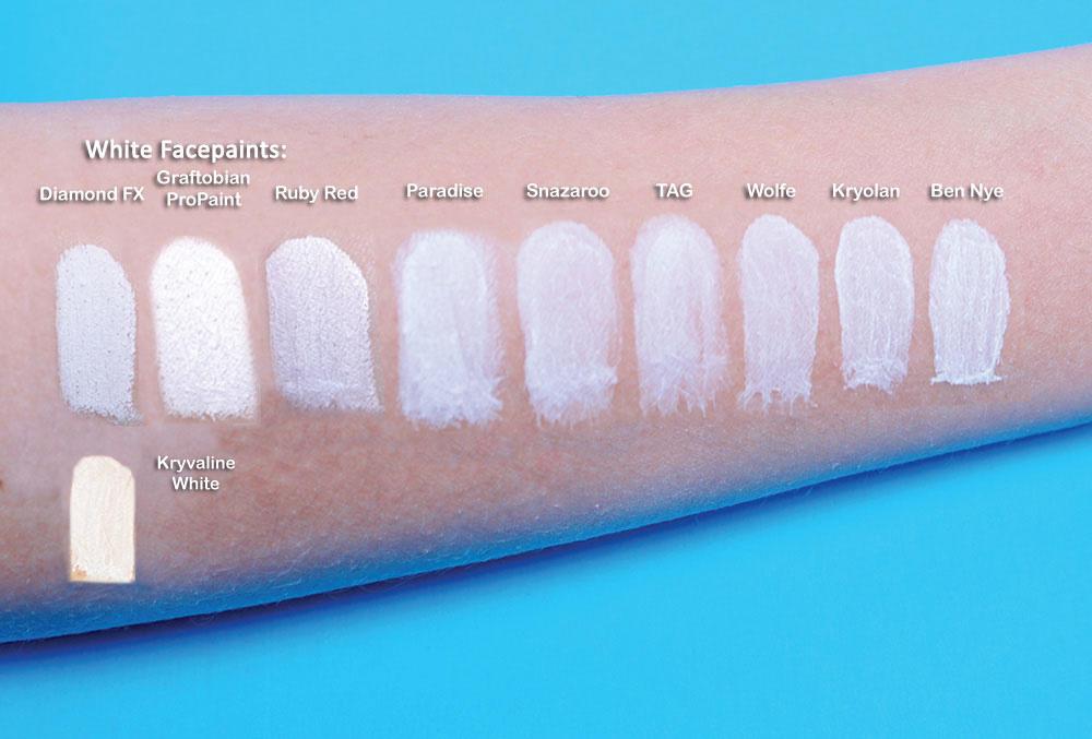 White Medium Single Color Face Paint ClownAntics